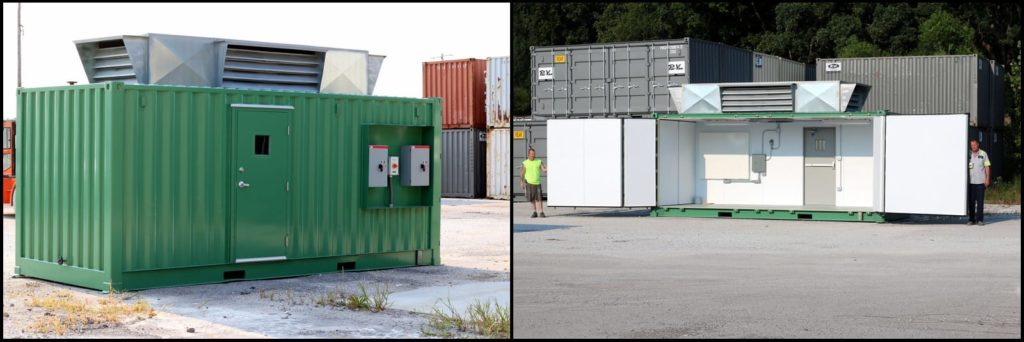 Custom container for gaseous nitrogen generation systems