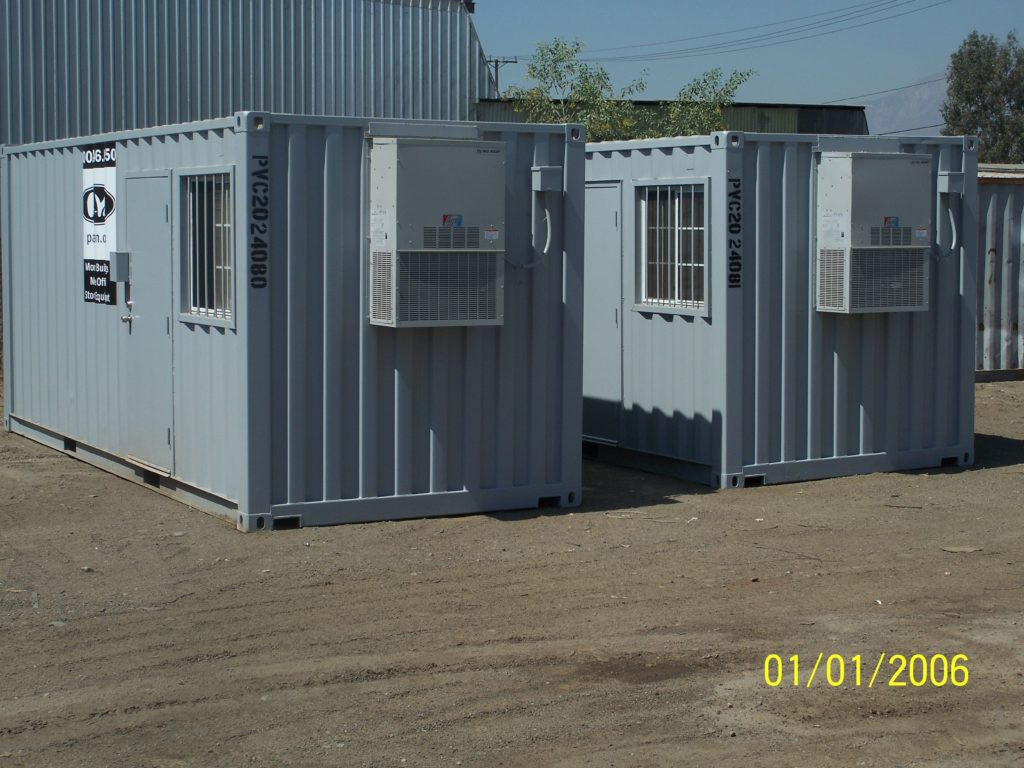 Ground level office container